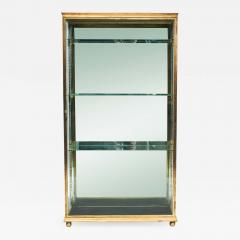 FRENCH ART DECO BRASS AND GLASS VITRINE DISPLAY CABINET - 2121135