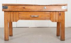 FRENCH EARLY 20TH CENTURY ART DECO PINE BUTCHER BLOCK - 813468