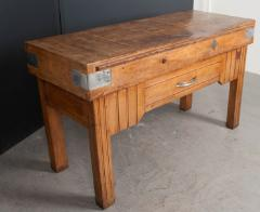 FRENCH EARLY 20TH CENTURY ART DECO PINE BUTCHER BLOCK - 813471