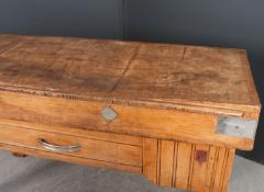FRENCH EARLY 20TH CENTURY ART DECO PINE BUTCHER BLOCK - 813473