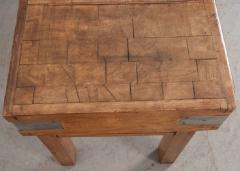 FRENCH EARLY 20TH CENTURY ART DECO PINE BUTCHER BLOCK - 813476