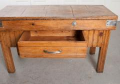 FRENCH EARLY 20TH CENTURY ART DECO PINE BUTCHER BLOCK - 813477