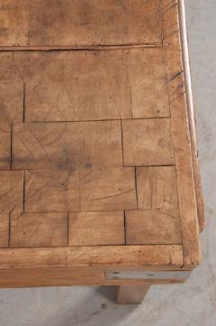 FRENCH EARLY 20TH CENTURY ART DECO PINE BUTCHER BLOCK - 813478