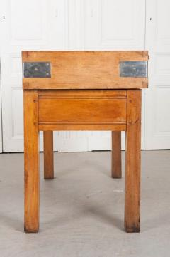 FRENCH EARLY 20TH CENTURY ART DECO PINE BUTCHER BLOCK - 813479