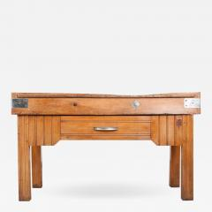 FRENCH EARLY 20TH CENTURY ART DECO PINE BUTCHER BLOCK - 813606