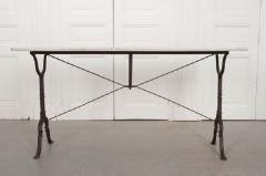 FRENCH EARLY 20TH CENTURY LONG MARBLE TOP BISTRO TABLE - 744789
