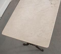 FRENCH EARLY 20TH CENTURY LONG MARBLE TOP BISTRO TABLE - 744792