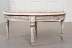 FRENCH EARLY 20TH CENTURY PAINTED MARBLE TOP COFFEE TABLE - 744817