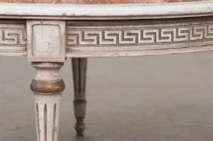 FRENCH EARLY 20TH CENTURY PAINTED MARBLE TOP COFFEE TABLE - 744818