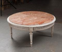 FRENCH EARLY 20TH CENTURY PAINTED MARBLE TOP COFFEE TABLE - 744823