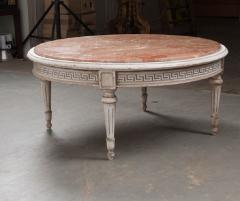 FRENCH EARLY 20TH CENTURY PAINTED MARBLE TOP COFFEE TABLE - 744824