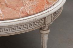 FRENCH EARLY 20TH CENTURY PAINTED MARBLE TOP COFFEE TABLE - 744825
