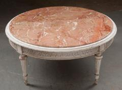 FRENCH EARLY 20TH CENTURY PAINTED MARBLE TOP COFFEE TABLE - 744826