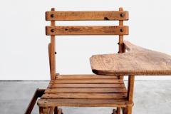 FRENCH OAK SCHOOL DESK - 1860829