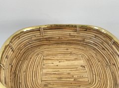 FRENCH RATTAN AND BRASS BOWL - 2001585