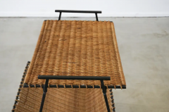 FRENCH WICKER MAGAZINE TABLE - 1860890