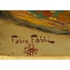 Fabio Fabbi A Fine Fabio Fabbi Orientalist Painting of Courtyard Dancers - 1471670