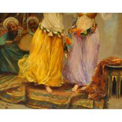 Fabio Fabbi A Fine Fabio Fabbi Orientalist Painting of Courtyard Dancers - 1471673