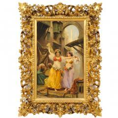 Fabio Fabbi A Fine Fabio Fabbi Orientalist Painting of Courtyard Dancers - 1471675