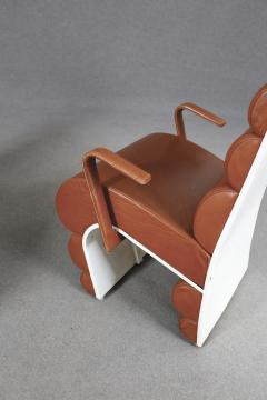 Fabio Lenci Italian Chair Midcentury Attributed to Fabio Lenci in Leather 1970s - 1499403