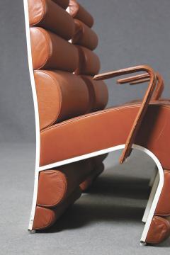 Fabio Lenci Italian Chair Midcentury Attributed to Fabio Lenci in Leather 1970s - 1499406