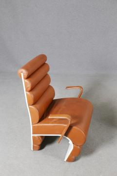 Fabio Lenci Italian Chair Midcentury Attributed to Fabio Lenci in Leather 1970s - 1499411