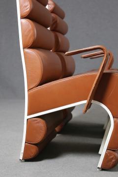 Fabio Lenci Italian Chair Midcentury Attributed to Fabio Lenci in Leather 1970s - 1499412