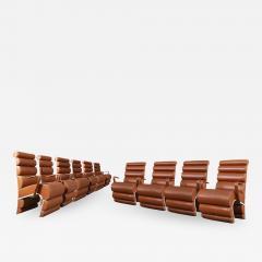 Fabio Lenci Italian Chair Midcentury Attributed to Fabio Lenci in Leather 1970s - 1500347