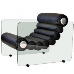 Fabio Lenci Pair Of Hyaline Lounge Chairs By Fabio Lenci - 1724220