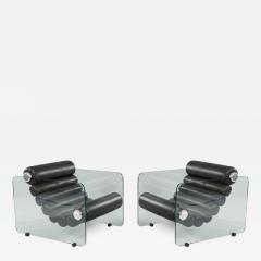 Fabio Lenci Pair Of Hyaline Lounge Chairs By Fabio Lenci - 1724782
