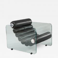 Fabio Lenci Pair Of Hyaline Lounge Chairs By Fabio Lenci - 1724783