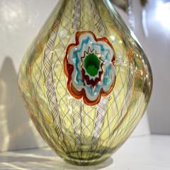 Fabio Tagliapietra F Tagliapietra Italian Green Yellow Orange Murano Glass Drop Sculpture Vase - 1946339