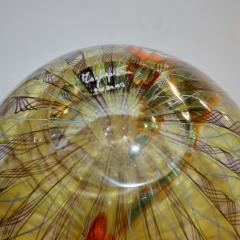 Fabio Tagliapietra F Tagliapietra Italian Green Yellow Orange Murano Glass Drop Sculpture Vase - 1946346