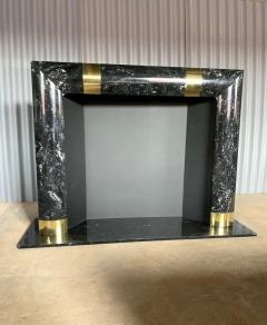 Fabulous Brass Marble and Composite Fireplace Surround - 1517652