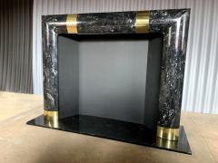 Fabulous Brass Marble and Composite Fireplace Surround - 1517653