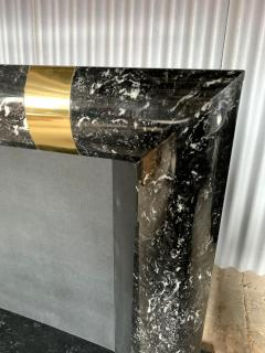 Fabulous Brass Marble and Composite Fireplace Surround - 1517657