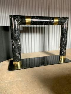 Fabulous Brass Marble and Composite Fireplace Surround - 1517660