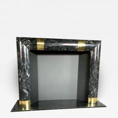 Fabulous Brass Marble and Composite Fireplace Surround - 1523100