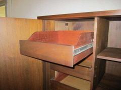 Fabulous Mid century Modern 3 dimensional Walnut tall Dresser Danish - 1877364