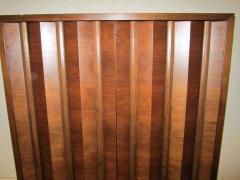 Fabulous Mid century Modern 3 dimensional Walnut tall Dresser Danish - 1877368