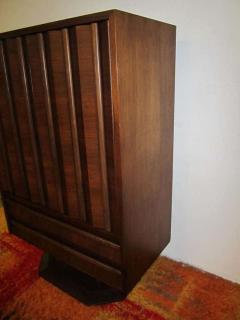 Fabulous Mid century Modern 3 dimensional Walnut tall Dresser Danish - 1877494