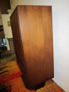 Fabulous Mid century Modern 3 dimensional Walnut tall Dresser Danish - 1877496