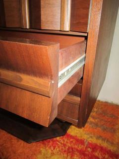Fabulous Mid century Modern 3 dimensional Walnut tall Dresser Danish - 1877497