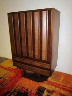 Fabulous Mid century Modern 3 dimensional Walnut tall Dresser Danish - 1877498