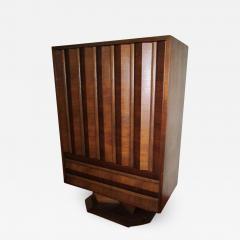 Fabulous Mid century Modern 3 dimensional Walnut tall Dresser Danish - 1879887
