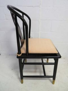 Fabulous Set of Six Scene Three Asian Style Lacquered Dining Chairs Henredon - 1789960