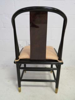 Fabulous Set of Six Scene Three Asian Style Lacquered Dining Chairs Henredon - 1789961