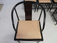 Fabulous Set of Six Scene Three Asian Style Lacquered Dining Chairs Henredon - 1789965