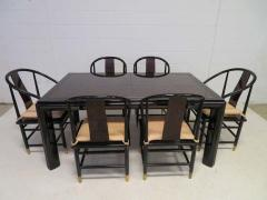 Fabulous Set of Six Scene Three Asian Style Lacquered Dining Chairs Henredon - 1789966