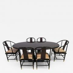 Fabulous Set of Six Scene Three Asian Style Lacquered Dining Chairs Henredon - 1791472